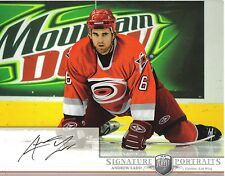2006-07 BAP PORTRAITS - ANDREW LADD  8 X 10  AUTOGRAPHED PHOTO