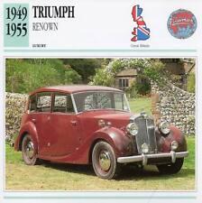 1949-1955 TRIUMPH RENOWN Classic Car Photograph / Information Maxi Card