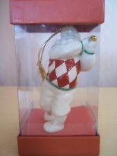 Vintage Lenox Santa Golfer Porcelain Christmas Ornament 24K Gilt Club With Box