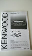 GENUINE ORIGINAL KENWOOD TS 2000 FRENCH INSTRUCTION MANUAL MODE D'EMPLOI