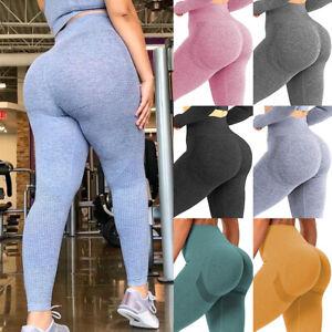 Women's Leggings Push Up Yoga Pants High Waist Scrunch Booty Butt Lift Trouser