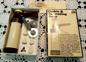 Hoan cookie decorating press set kit 1979 dated VINTAGE
