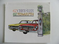 Brochure CHRYSLER PLYMOUTH 1962 en français