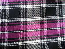 "Stretch Tartan Fabric PolyViscose - 57"" (145cm) Wide - per metre or half -Plaid"