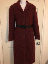 ADOLFO DOMINGUEZ Coat, EUR Size 42 8/10 Red and Black