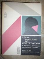 LE BASI BIOLOGICHE DEL COMPORTAMENTO VOL 2 - ED:MONDADORI EST - ANNO:1978 (WW)