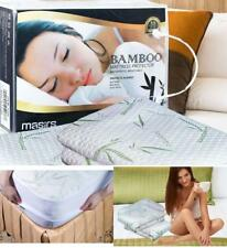 Bamboo Mattress Protector King Size Cover Bed Bug Dust Mites Waterproof Soft