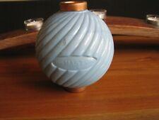Blue Milk Glass Mast Pattern Round Old Lightning Rod Ball