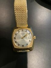 Vintage Bulova Gold Plated Automatic Mens Watch