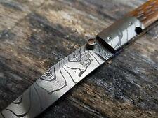 D.B. FRALEY damascus custom folding knife DIXON, CA very rare