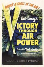 Victory through air power Disney 43 propaganda poster print #1