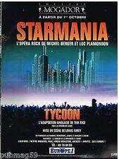Publicité Advertising 1993 Concert Opera Rock Starmania Mogador