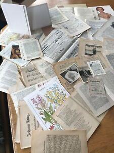 Vintagepapier, Buchseiten, Notenpapier, Bastelpapier, Passepartoutkarte