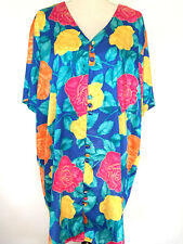 Solange Satin Women's Nightshirt Nightgown Long Size 18/20 Floral Tropical