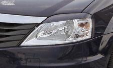 RDX Scheinwerferblenden DACIA Logan 2008-2013 Böser Blick Blenden Spoiler