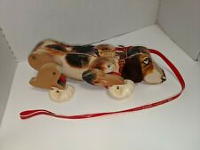 Vintage 1961 Fisher Price, Snoopy Sniffer the Wooden Walking Come Along Dog #181