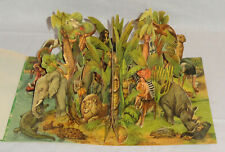 "Panascopic Kubasta Pop-Up Stand-Up Book ""Moko And Koko In The Jungle"" Artia 1962"