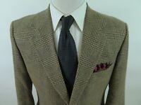 Orvis Wool Brown Glen Plaid Windowpane Blazer Jacket Sport Coat 40 R USA EUC