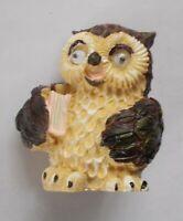 "Owl with a Book figurine Souvenir Bird NEW Polystone 54 mm / 2,1"""