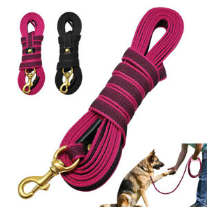 10/16ft Dog Tracking Leash Training Recall Obedience Nylon Rope German Shepherd