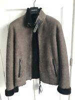 NWT Brand New MSRP $2995 Emporio Armani Shearling Bomber Jacket Runway Sz 50 M