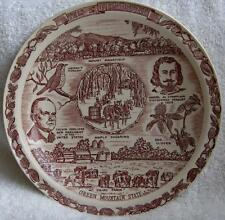Vernon Kilns Vermont collector plate~The Green Mountain State~Rare images-NR