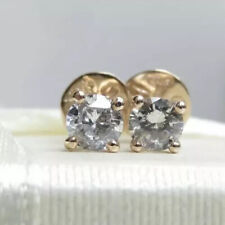 Sparkling Genuine 0.40ct G/SI Diamond Stud Earrings 16K Yellow Gold