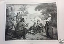 1873= GIOBBE = BIBBIA= Antica Grande Stampa by BECQUET