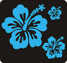 40 LIGHT BLUE HIBISCUS FLOWER STICKERS CAR WALL BEDROOM WINDOWS DECALS GRAPHICS