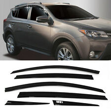 1_Smoke Window Sun Vent Visor Rain Guards 6Pcs D754 For TOYOTA 2013 - 2018 RAV4