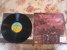 Dio signed Autograph on vinyl/lp with PSA-DNA Lock Up the Wolves Sabbath OZZY