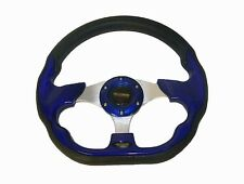 """Universal 320mm / 12.5"""" Racing Sports Steering Wheel with Horn Button Blue #520"""