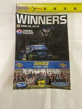 Tony Stewart June, 2016 Sonoma Raceway Team Issued Win Sticker PRO CAL Nascar