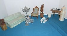 VICTORIAN CHAIR VINTAGE DOLL HOUSE FURNITURE MINIATURES>-)))'>