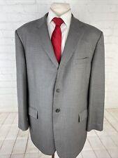 Pronto Uomo Men's Grey Textured Wool Blazer 48R $415