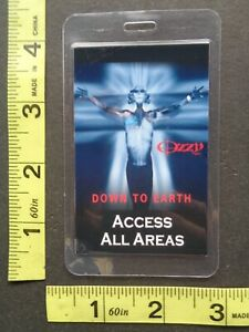 OZZY OSBOURNE,Original laminated Access All Areas Backstage pass
