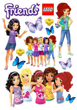 LEGO Friends set of decoration ICING WAFER edible cake topper A4 size
