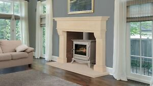 Bath stone limestone fireplace. Fire surround. Hand carved. Extra large.