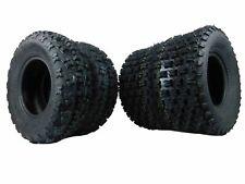 Yamaha Yfz450 YFZ 450 MASSFX Tires 2 Set Black Aluminum Rims Wheels Kit
