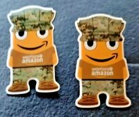"2 New ""Warriors of Amazon"" Employee PECCY PINS Military Army Soldier Veterans"