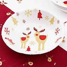 Christmas Tableware - Rocking Rudolf - Bowls - Paper 18cm - Pack of 8