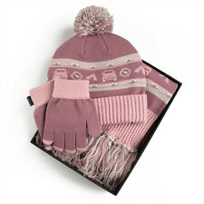 GENUINE LANDROVER GIRLS HAT,SCARF AND GLOVE SET