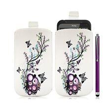 Housse coque étui pochette pour HTC Incredible S avec motif HF01 + Stylet luxe