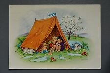 R&L Modern Postcard: ETW Dennis, Frankie, Tent Camping, Weather, Rain
