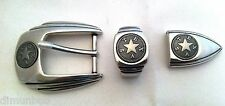 Texas  Star Three Piece Belt Buckle Set (Clearance)