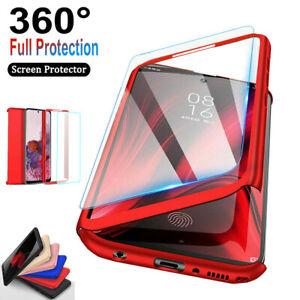 Samsung Galaxy S9/S7/S8/S10 Plus/S20FE 360° Full Body Hard Case+Screen Protector