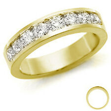RRP £2000 1/2Ct 7 Round Diamond Channel Set Half Eternity Ring 18k Yellow Gold