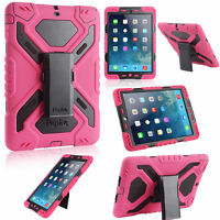 Pink Rugged Shock Water Dirt Proof Case for Apple iPad 2 3 4 5 6 Air Mini Retina