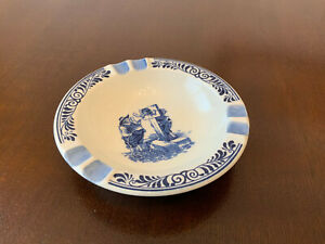 Vintage Troost Tabacco Delft Blue Distel Ceramic Ashtray - Holland