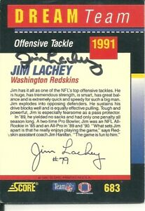 Jim Lachey The Ohio State Buckeyes/ Redskins Personally Autographed Card